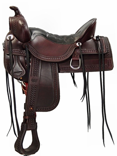 Tucker Old West Tooled Trail Saddle 277