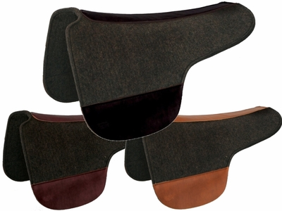 Tucker Black Felt Round Saddle Pad 53