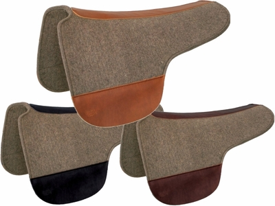 Tucker Gray Felt Round Saddle Pad 52