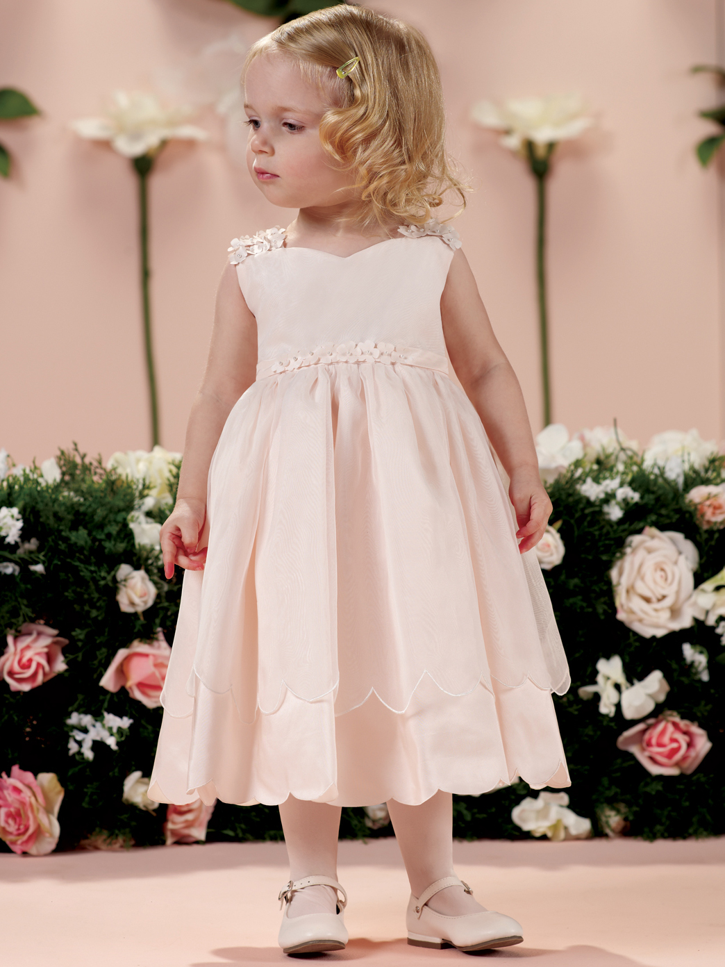 d4b8a282c Flowered Straps Tiered Skirt Joan Calabrese Girls Formal Gown ...