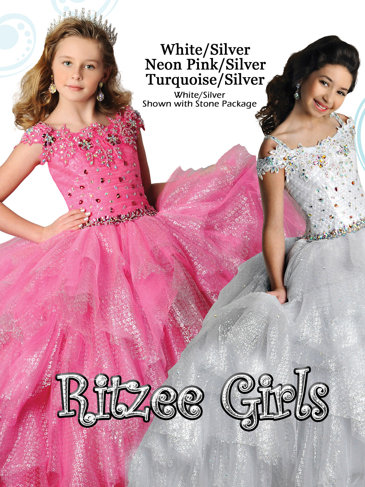 Classy Ritzee Girls Lace Off The Shoulder Pageant Gown 7021