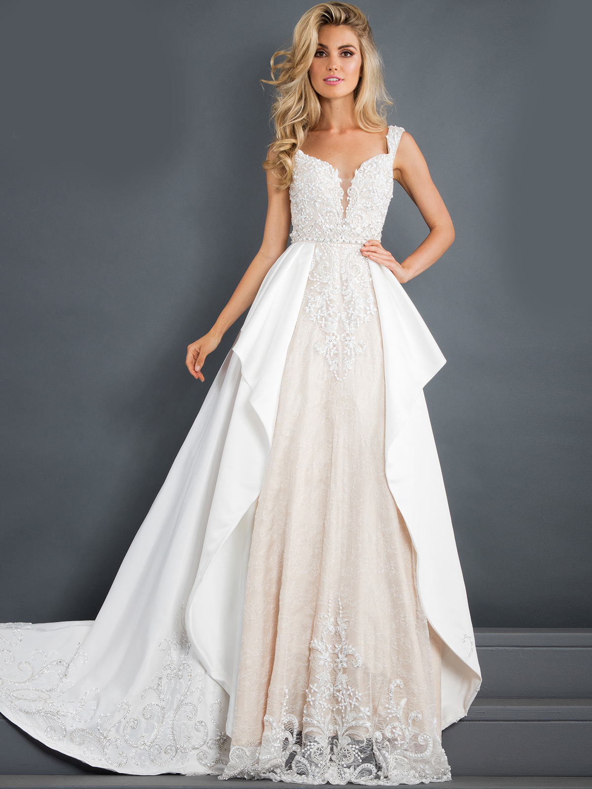 c43982edcb8 Prima Donna Pageant Gown 5942 Satin Overlay by Rachel Allan ...