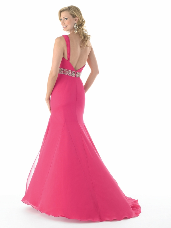 Fuchsia Single Strap Beaded Waist Crown Collection 6106 ...