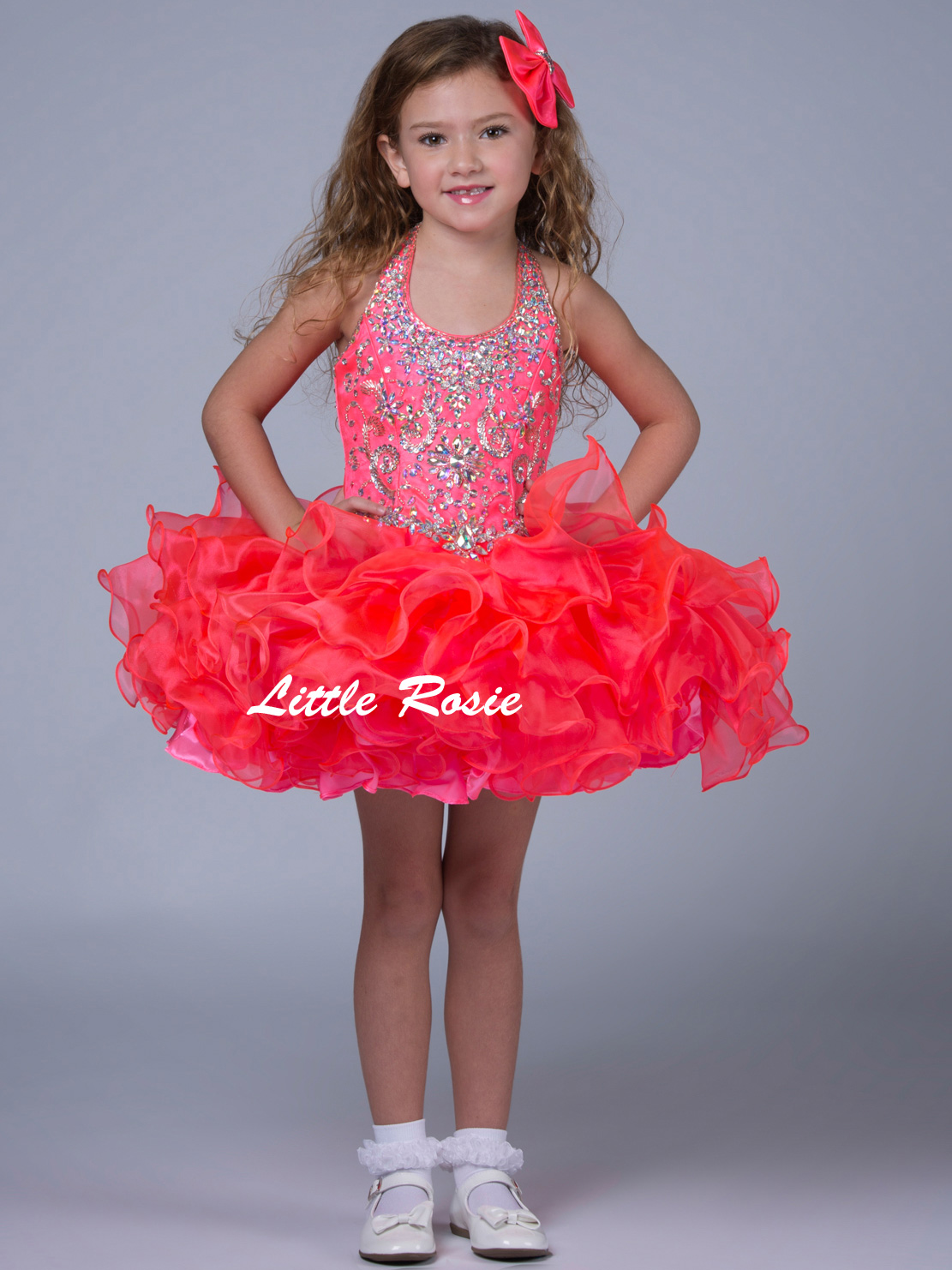 Little Rosie Pageant Halter Pageant Dress SR311|PageantDesigns.com
