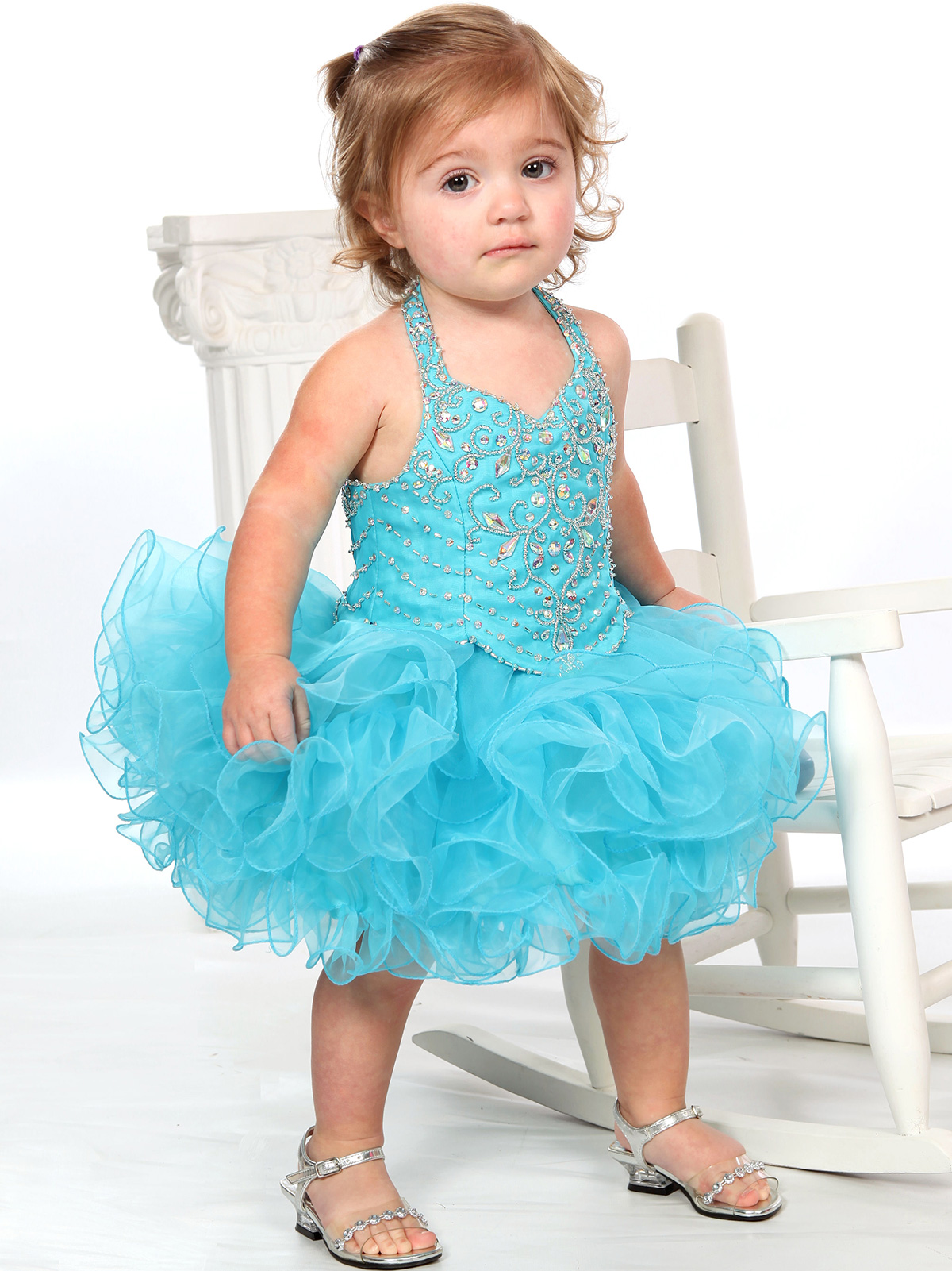 Beaded Bodice Baby Girls Unique Fashion Pageant Gown ...