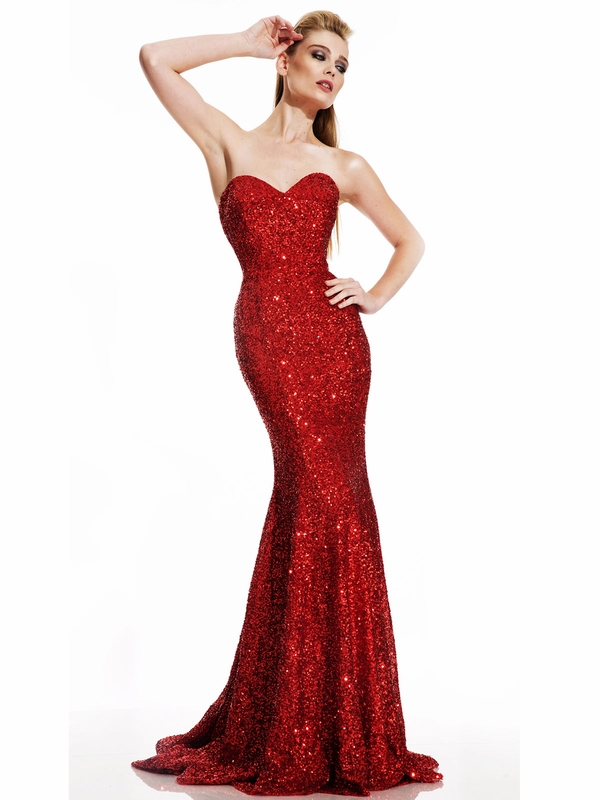 Johnathan Kayne 461 All Over Sequined Pageant Dress PageantDesigns.com