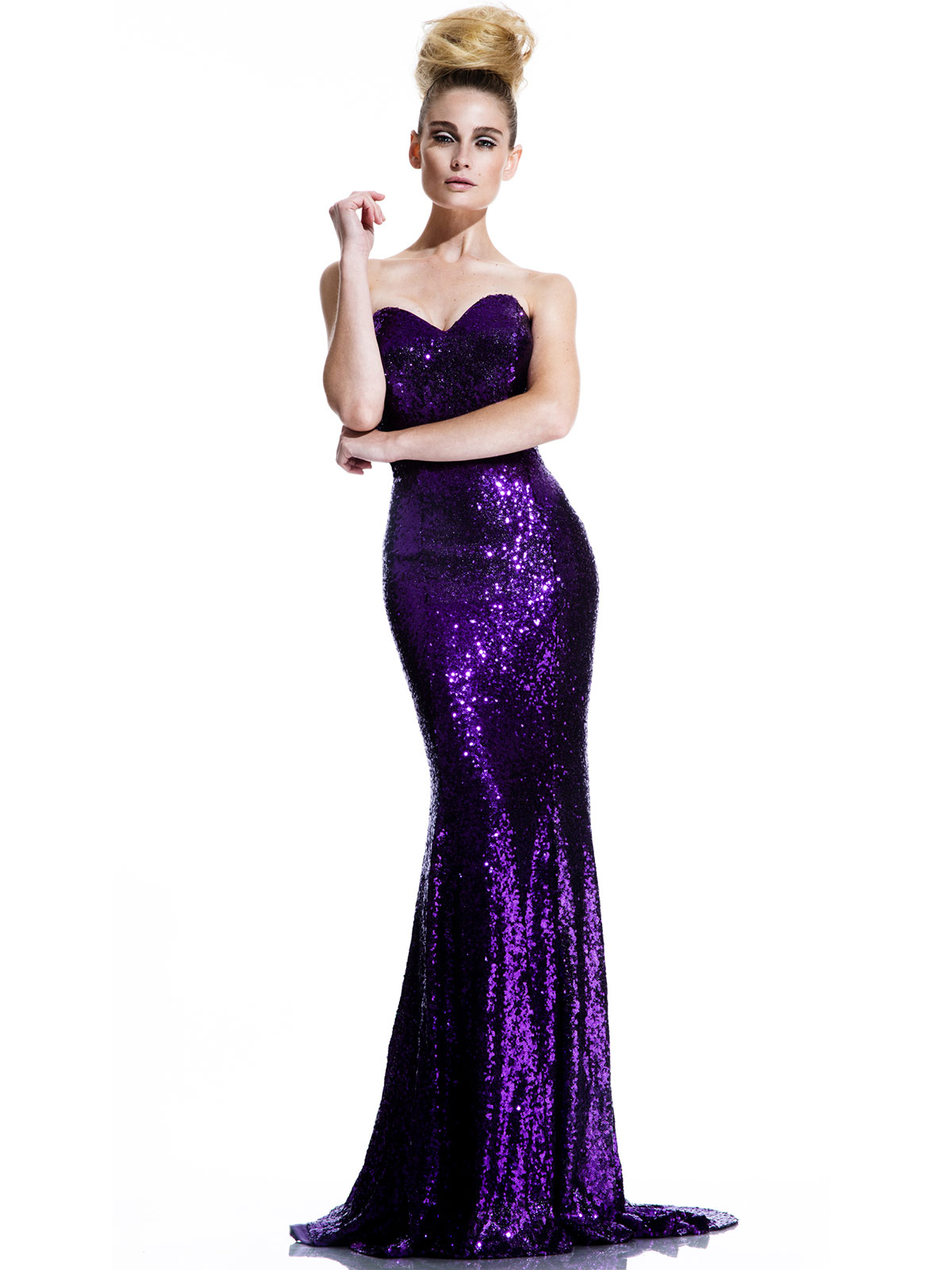 Johnathan Kayne 461 All Over Sequined Pageant Dress|PageantDesigns.com