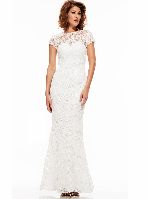 Johnathan Kayne 6029 Cap Sleeved Formal Pageant Gown