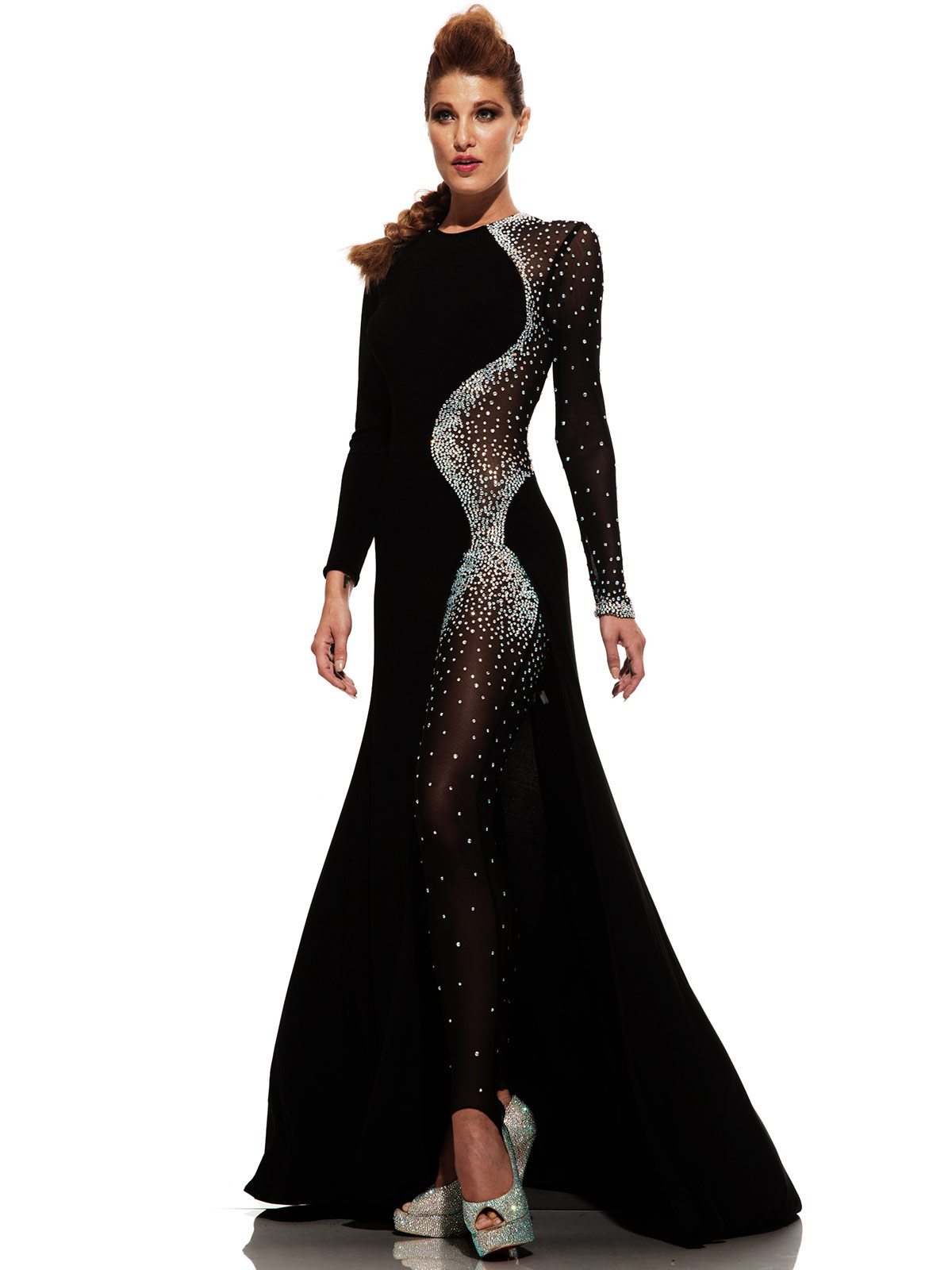 Johnathan Kayne 6093 Long Sleeved Pageant Dress|PageantDesigns.com