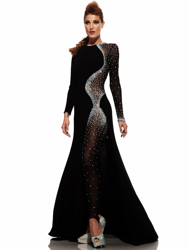 Johnathan Kayne 6093 Long Sleeved Pageant Dress Pageantdesigns Com