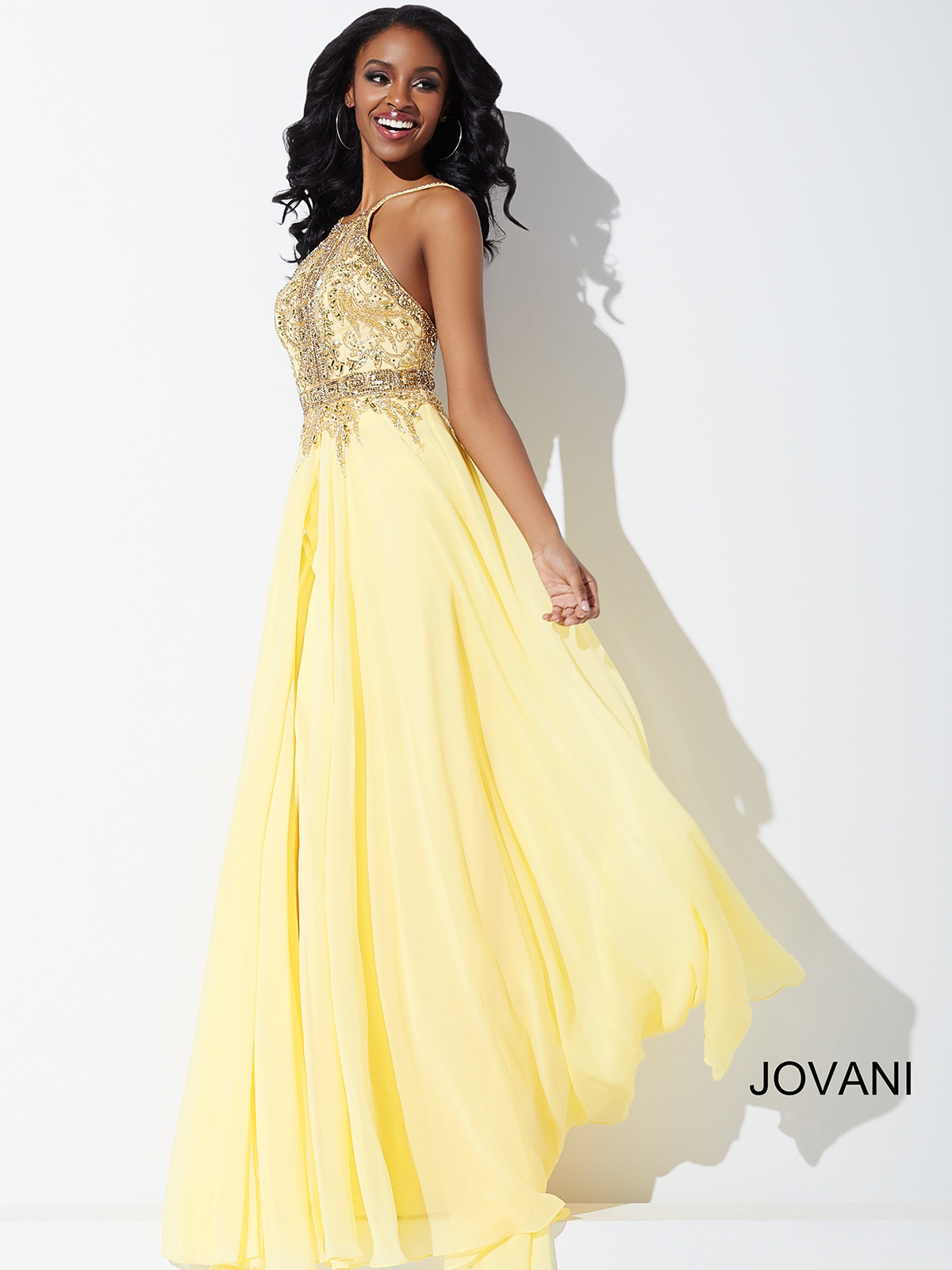 Jovani 33851 A-Line Chiffon Pageant Dress|PageantDesigns.com