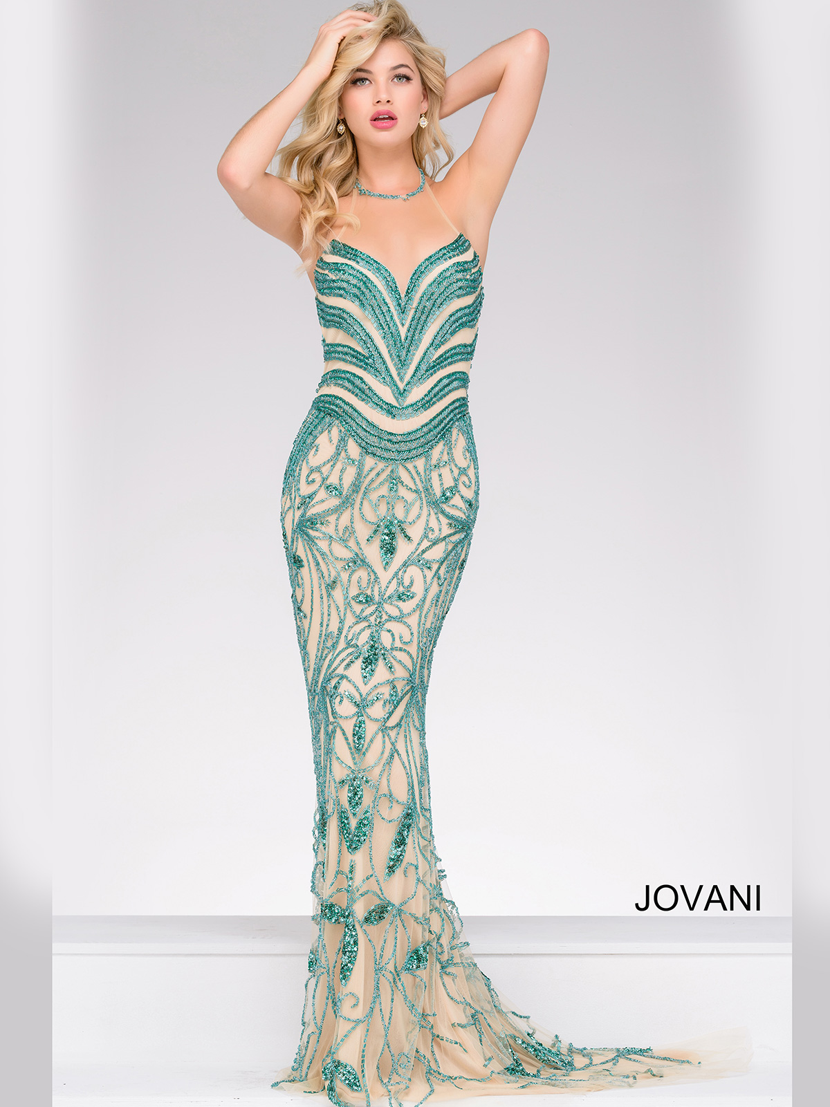 Jovani 37583 Fully Beaded Pageant Dress|PageantDesigns.com