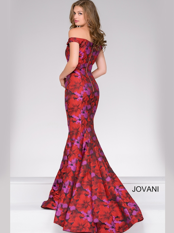 Jovani 40718 Fitted Floral Pageant Dresspageantdesigns