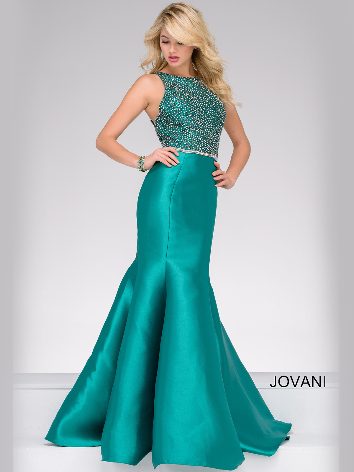 Jovani 42414 Trumpet Fitted Pageant Dress|PageantDesigns.com
