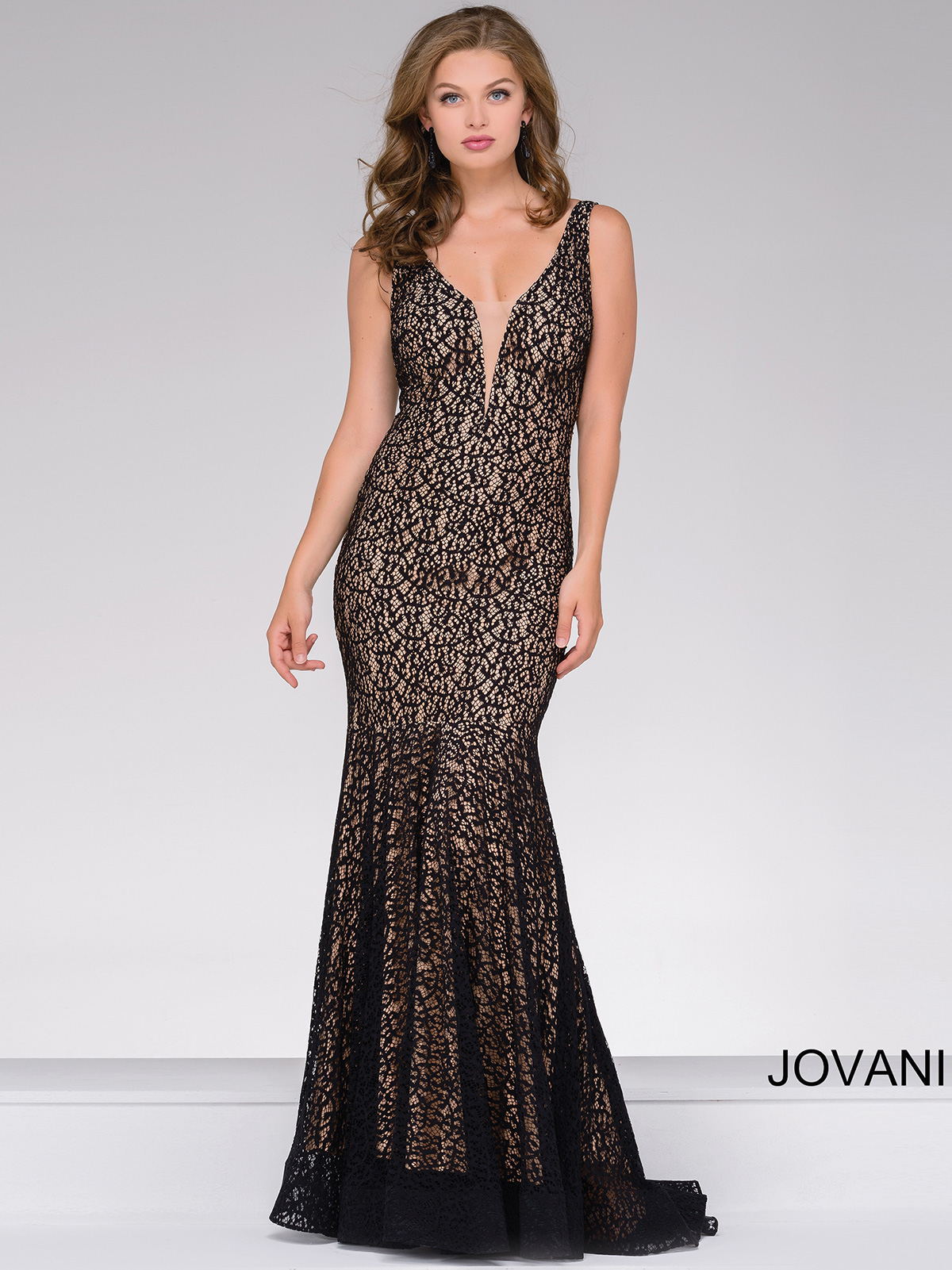 Jovani 42784 Sleeveless Lace Pageant Dress|PageantDesigns.com