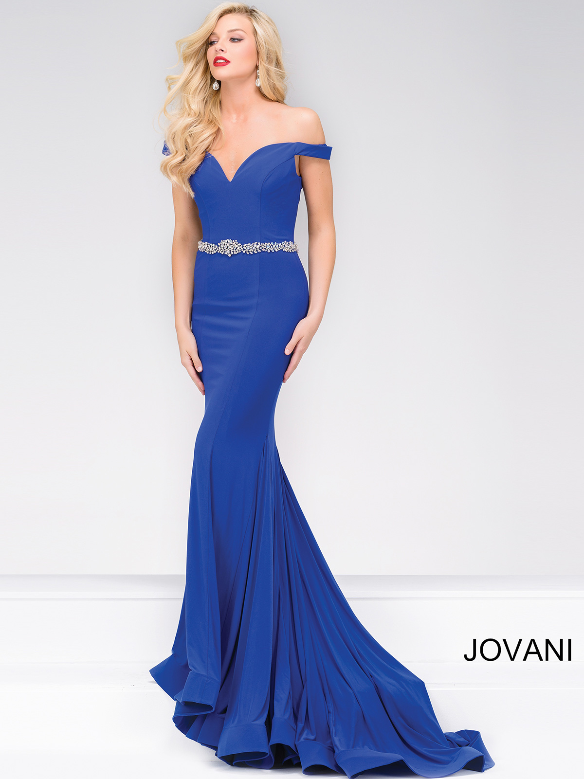 Jovani 49254 Fitted Jersey Pageant Dress|PageantDesigns.com