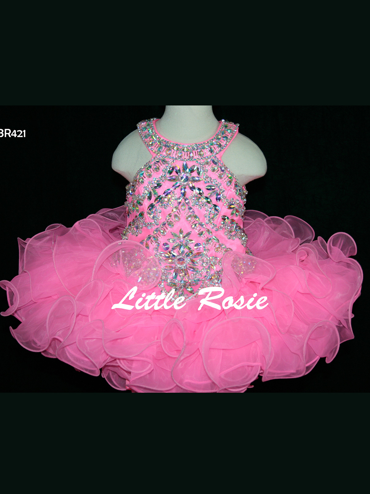 Little Rosie Organza Cupcake Skirt BR421 Pageant Gown PageantDesigns