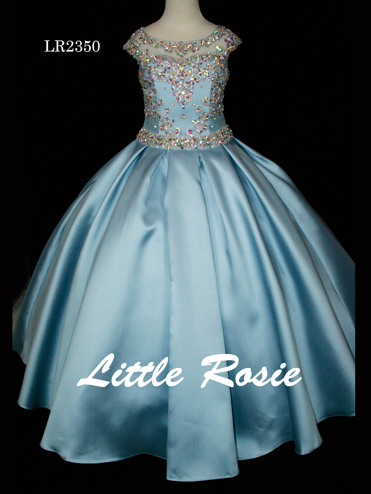 Little Rosie National Rhinestone Pageant Dress LR2350|PageantDesigns.com