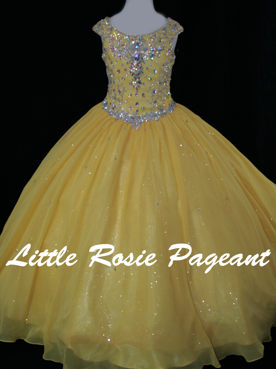Little Rosie LR2174 Chiffon Ball Gown Pageant Dress|PageantDesigns.com