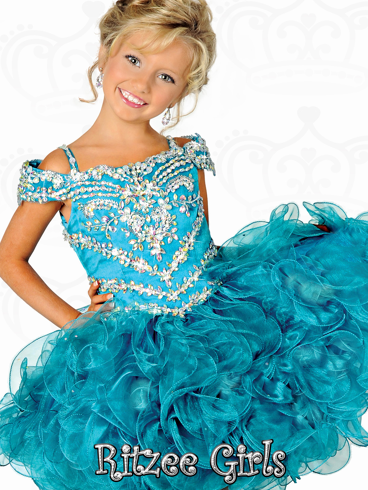 Ritzee Girls Cupcake Pageant Dresses: PageantDesigns.com