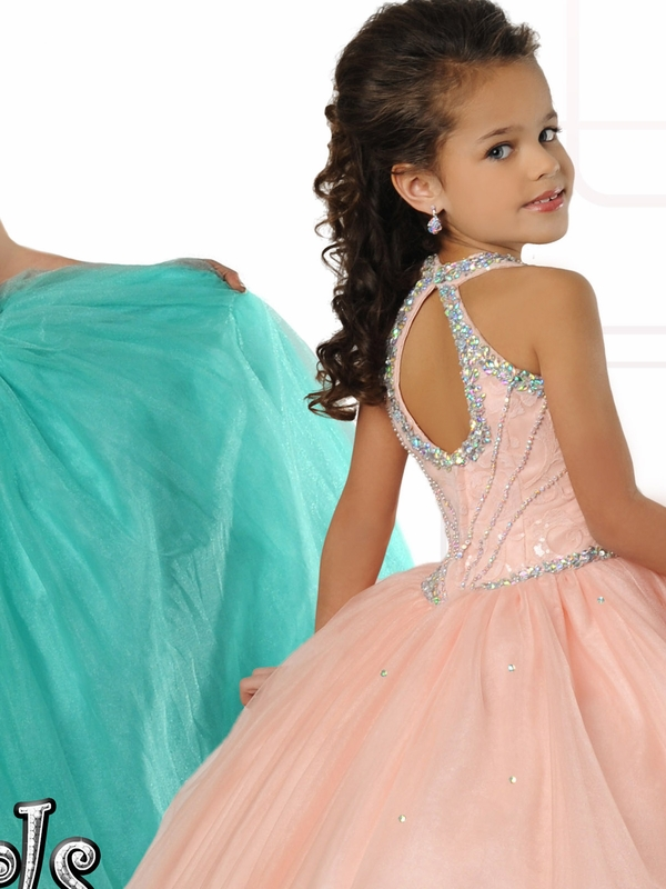 Soft Colored Ritzee Girls Pageant Dress 7026 PageantDesigns.com