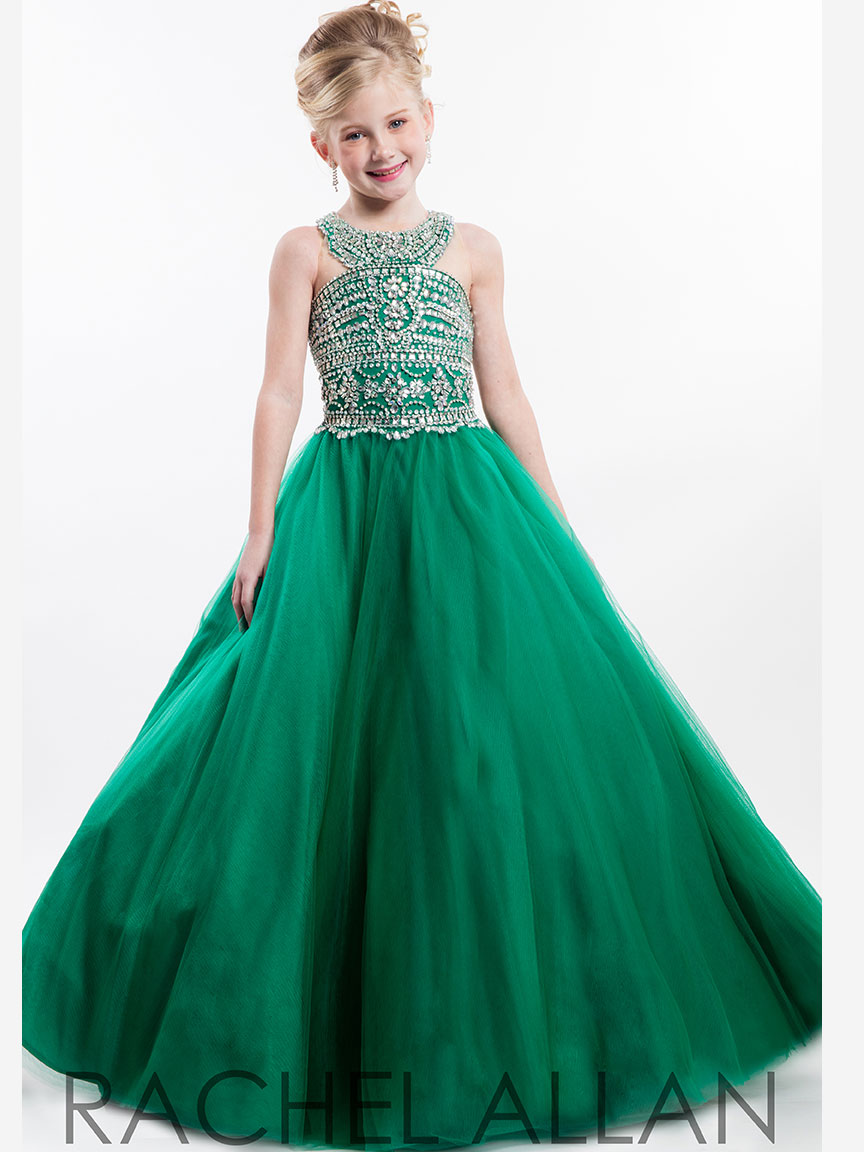 Perfect Angels 1642 Round Neckline Pageant Dress|PageantDesigns.com