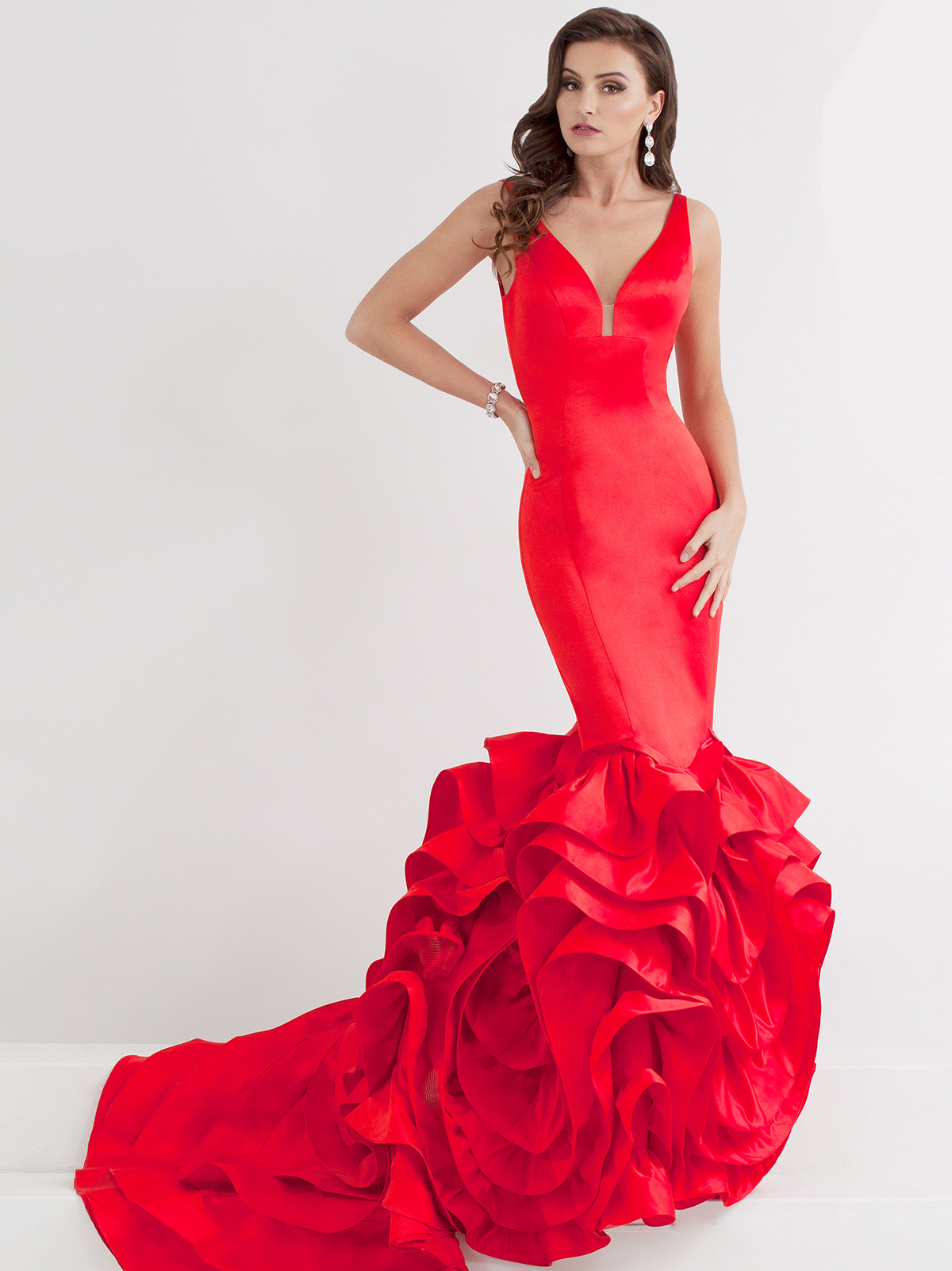Prima Donna 5875 Plunging Bodice Pageant Dress|PageantDesigns.com