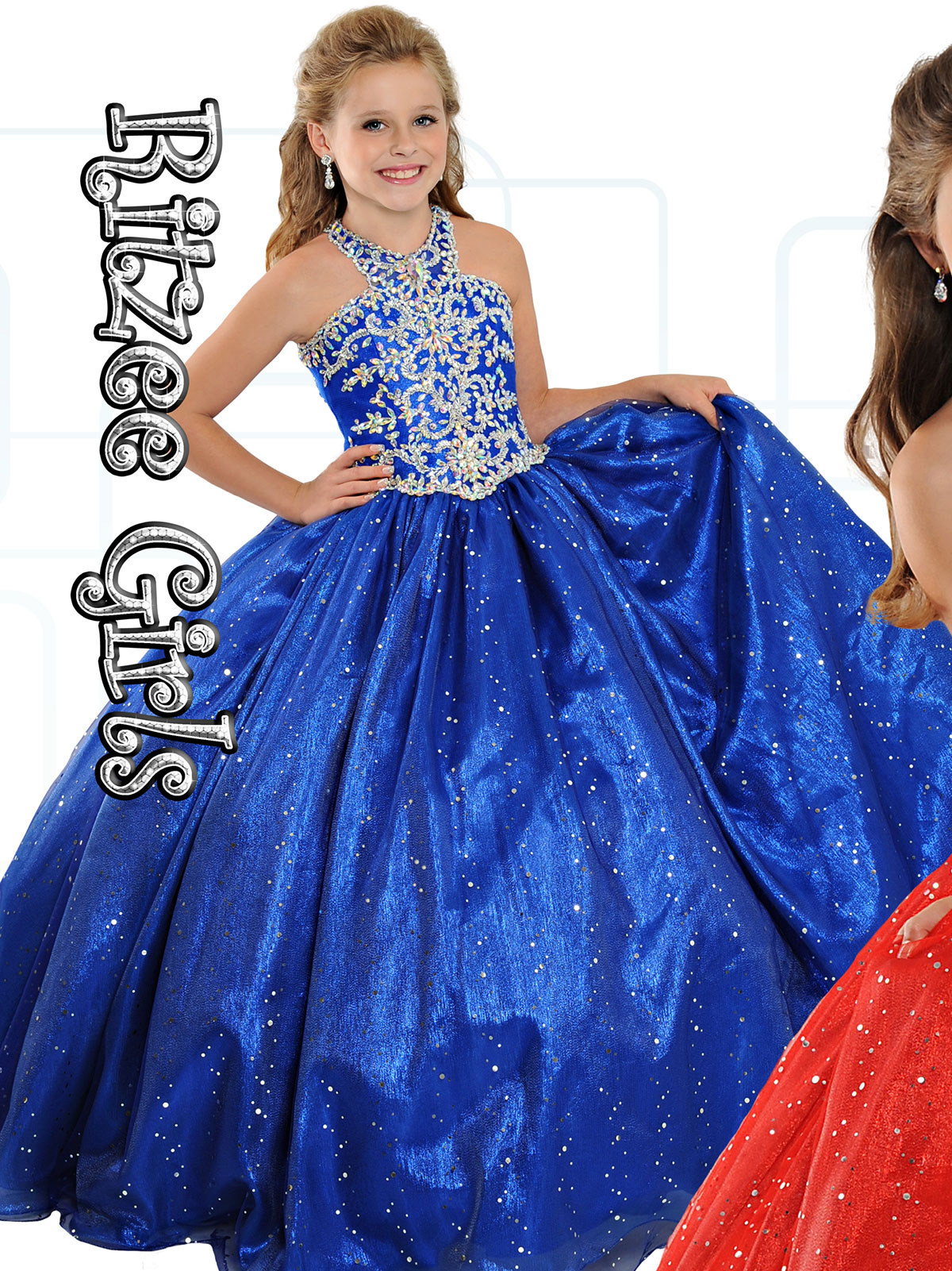 Ritzee Girls truly leads the way when it comes to the latest in pageant styles, so you can always be sure your little pageant queen is rocking the trendiest ensembles around when she's working the runway in a gown from Ritzee Girls.
