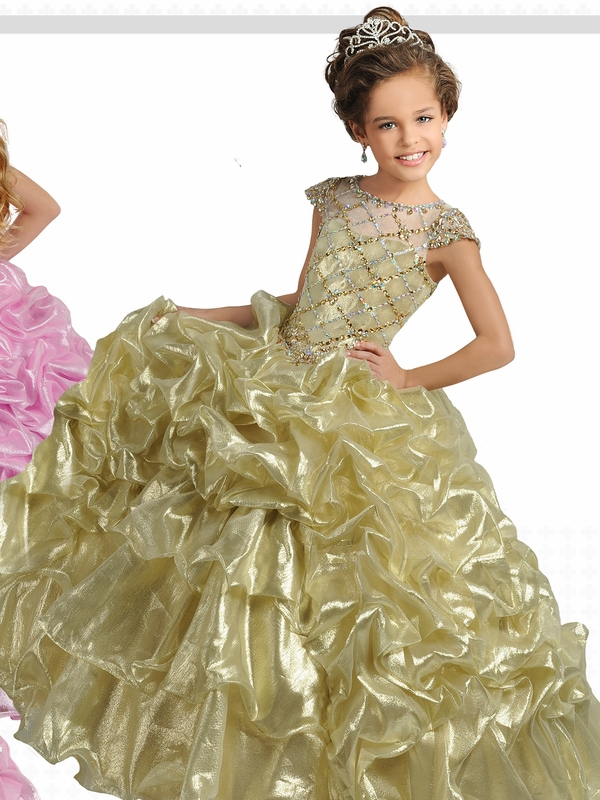 Ritzee Girls 7249 Metallic Pageant Dress|Pageantdesigns.com