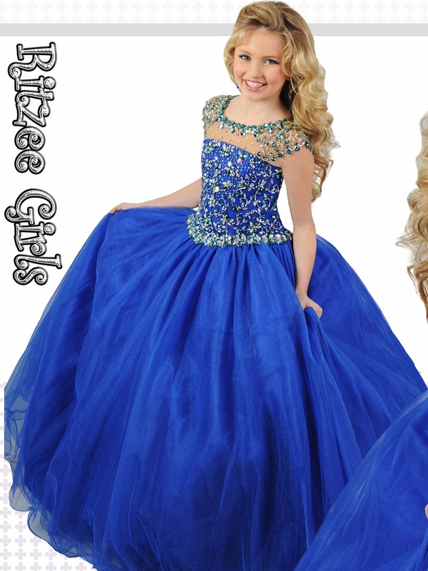 Ritzee Girls 7252 Cinderella Tulle Pageant Dress|Pageantdesigns.com