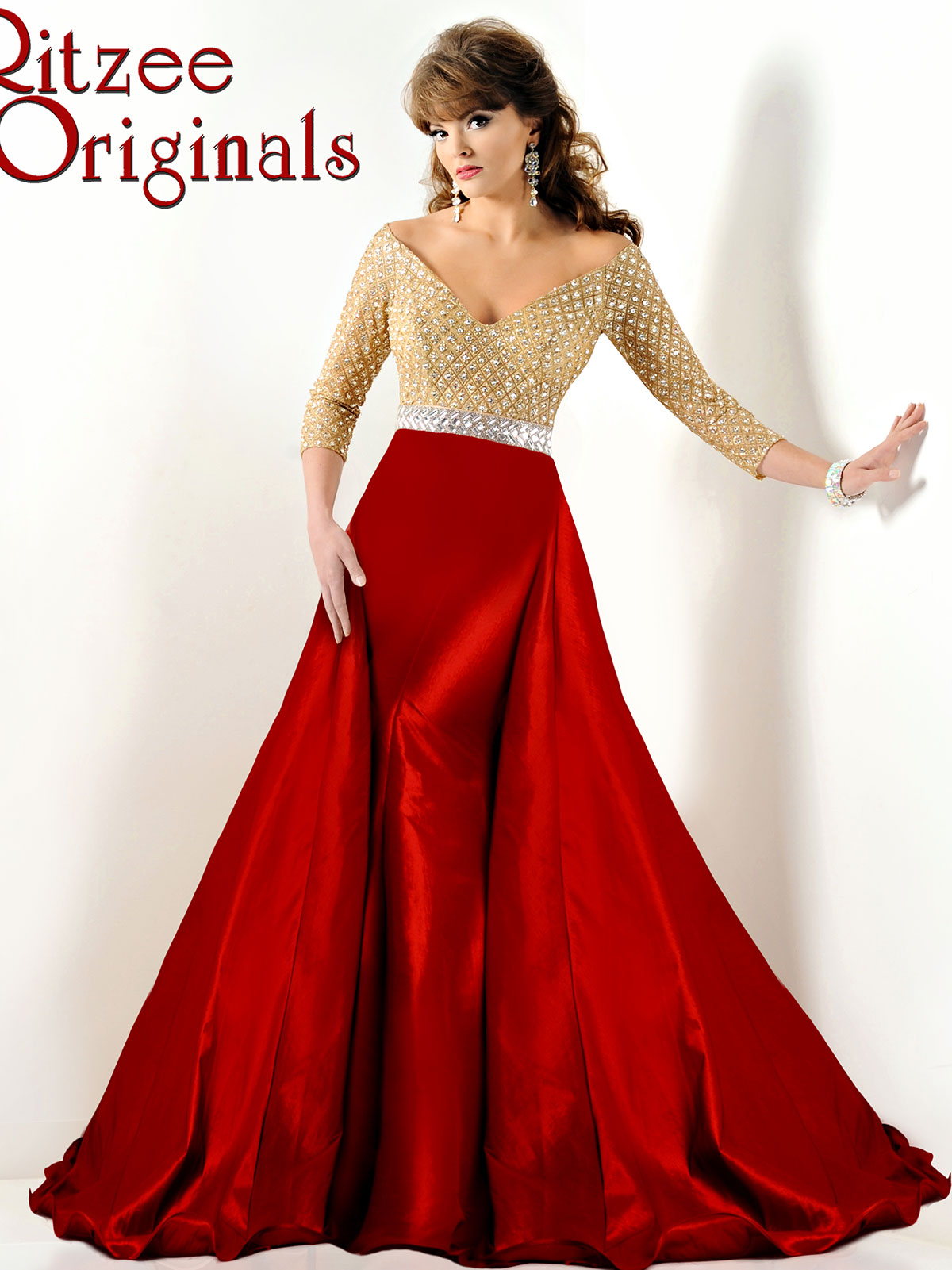 Ritzee Originals 2855 Long Sleeved Pageant Dress|PageantDesigns.com