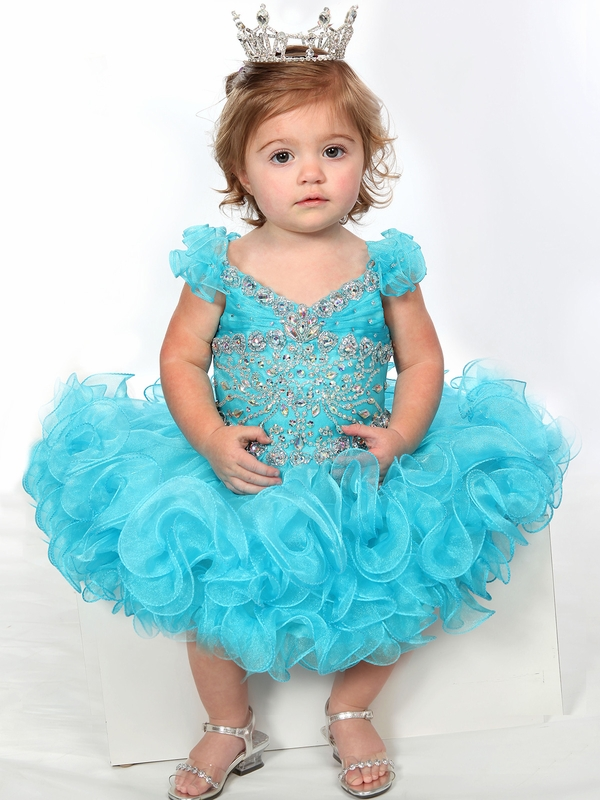 Beaded Bodice Baby Girls Unique Fashion Pageant Gown UFB025 ...
