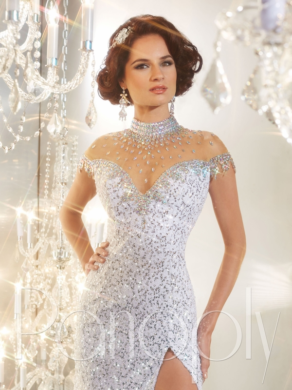 Beaded Collar Sequin Panoply Pageant Dress 44231 : PageantDesigns.com