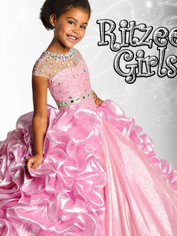 Ritzee Girls Shimmer Royal Pageant Gown 6913|PageantDesigns.com
