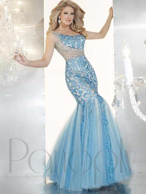 One Shoulder Mermaid Pageant Dress By Panoply 44236 : PageantDesigns.com