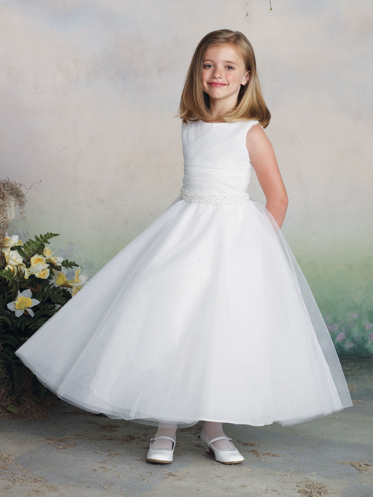 Tea Length Tulle Girls Formal Dress Joan Calabrese 112319 ...
