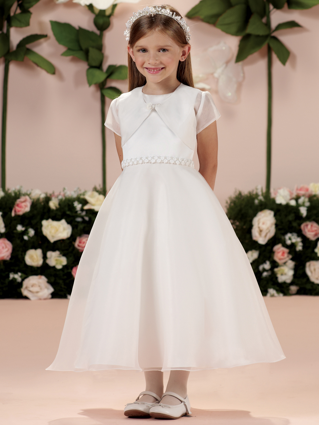 Two Piece Tea Length Joan Calabrese Girls Formal Gown 114329 ...