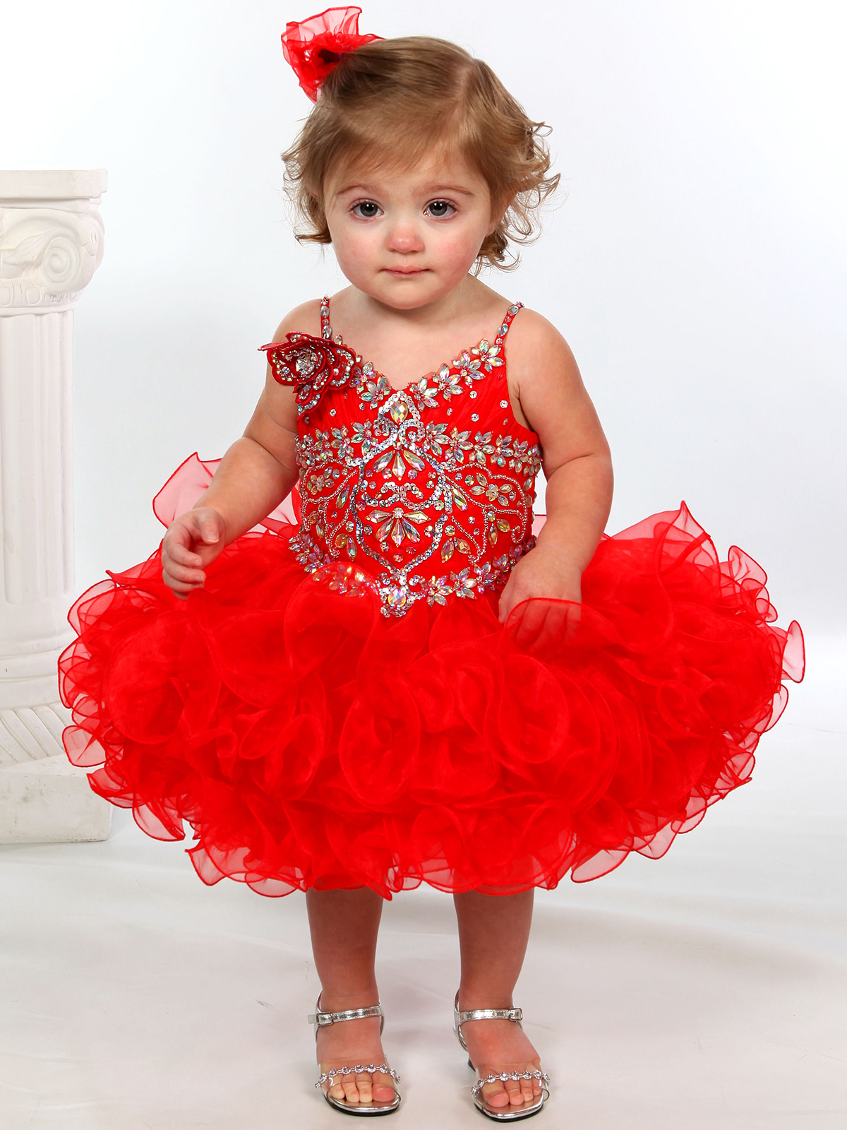 Beaded Bodice Unique Fashion Cupcake Pageant Gown UFB042 ...