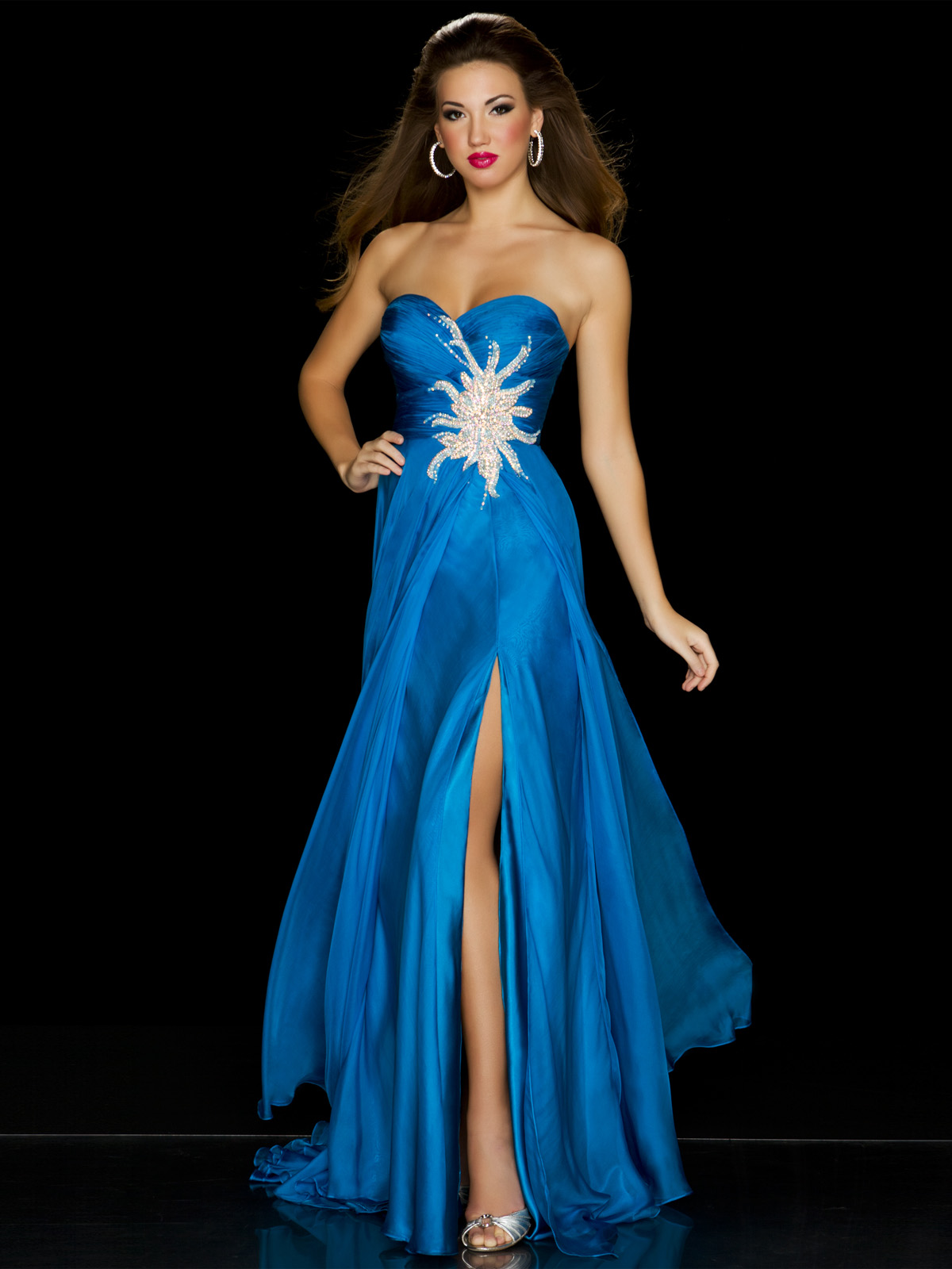 Mac Duggal Turquoise Strapless Teen Pageant Dress 6355P ...