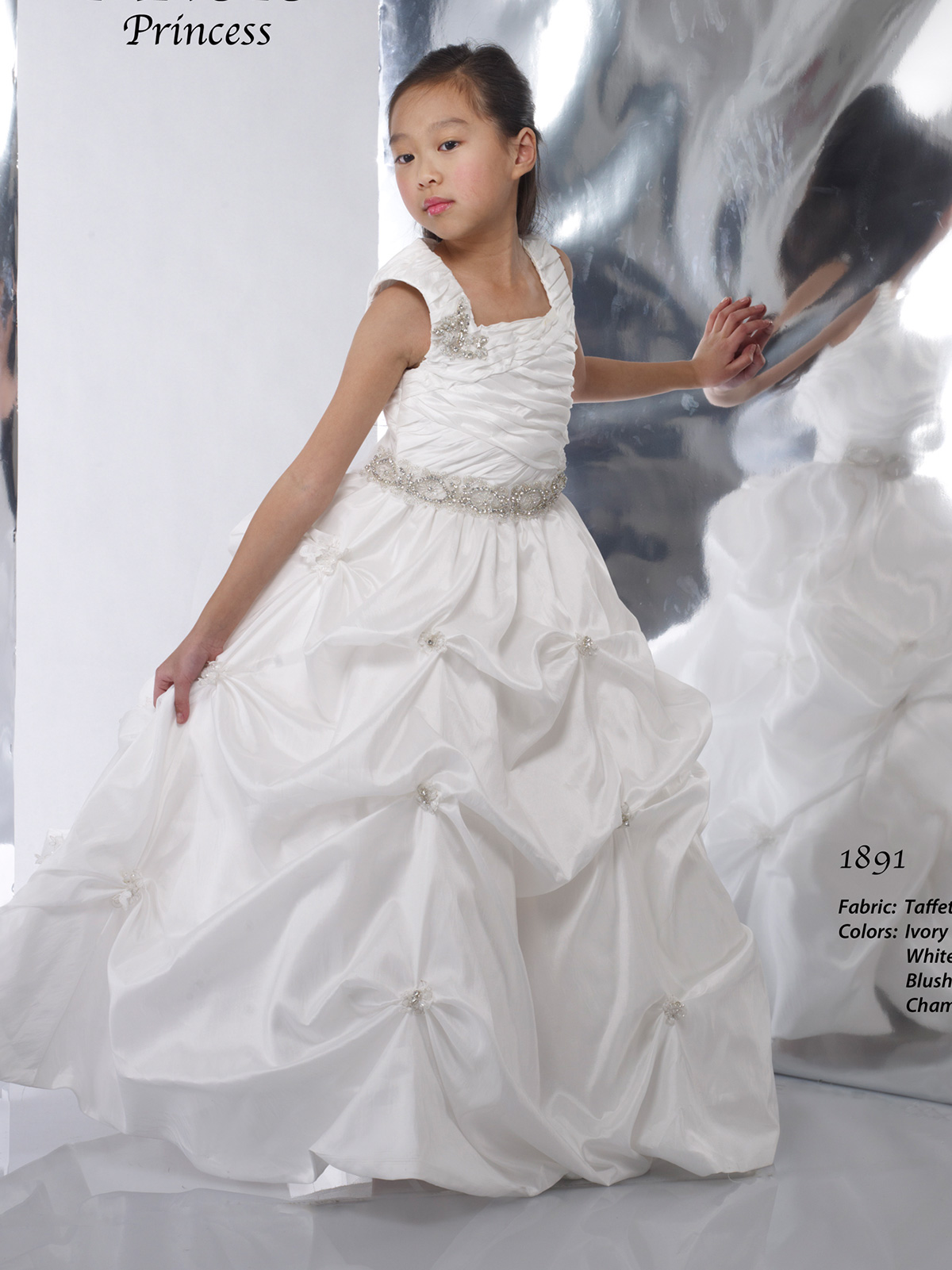 e75772fe286 Angelic Pick Ups Taffeta Skirt Macis Design Pageant Ball Gown 1891