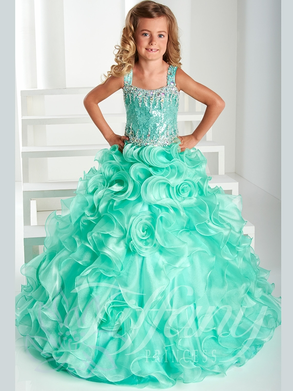 Tiffany Princess Ruffled Rosette Skirt Pageant Gown 13412 ...