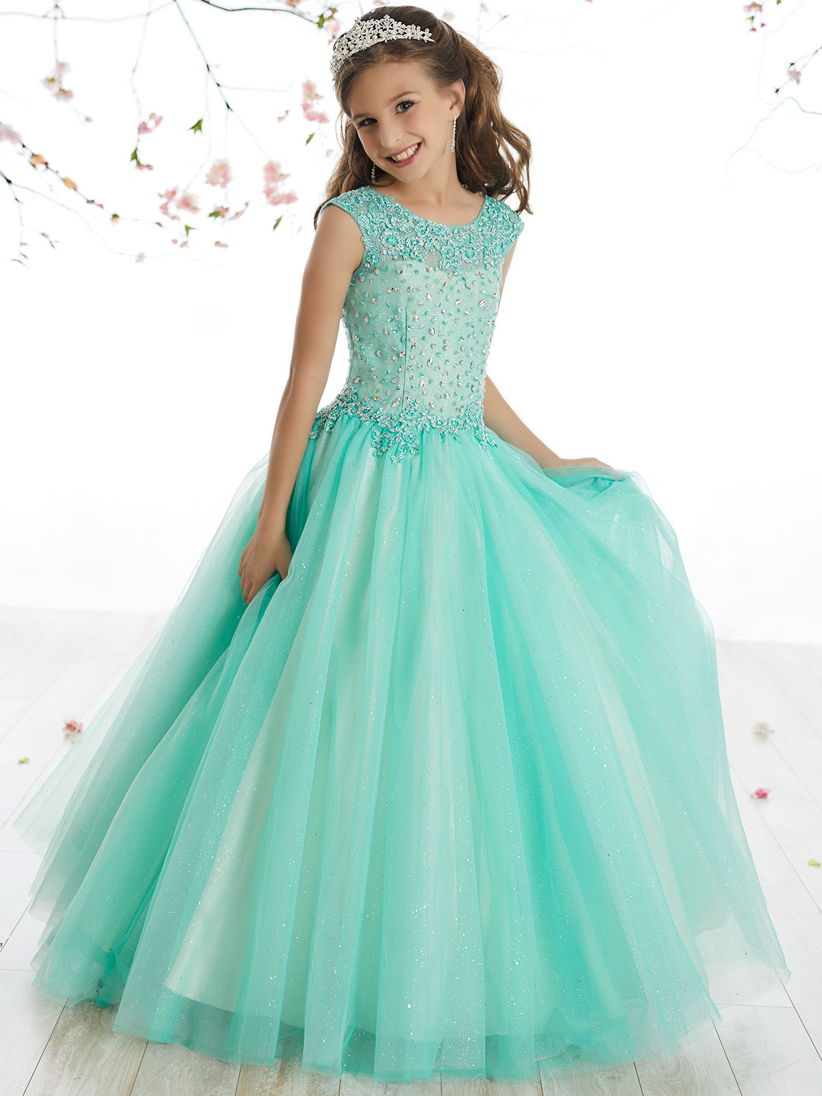 Tiffany Princess 13507 Scoop Neckline Ball Gown Dress|PageantDesigns.com