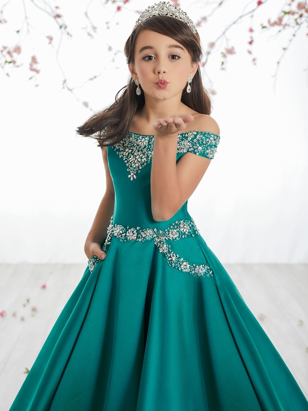 61398f27dc2b Tiffany Princes 13513 Off The Shoulder Pageant Dress.