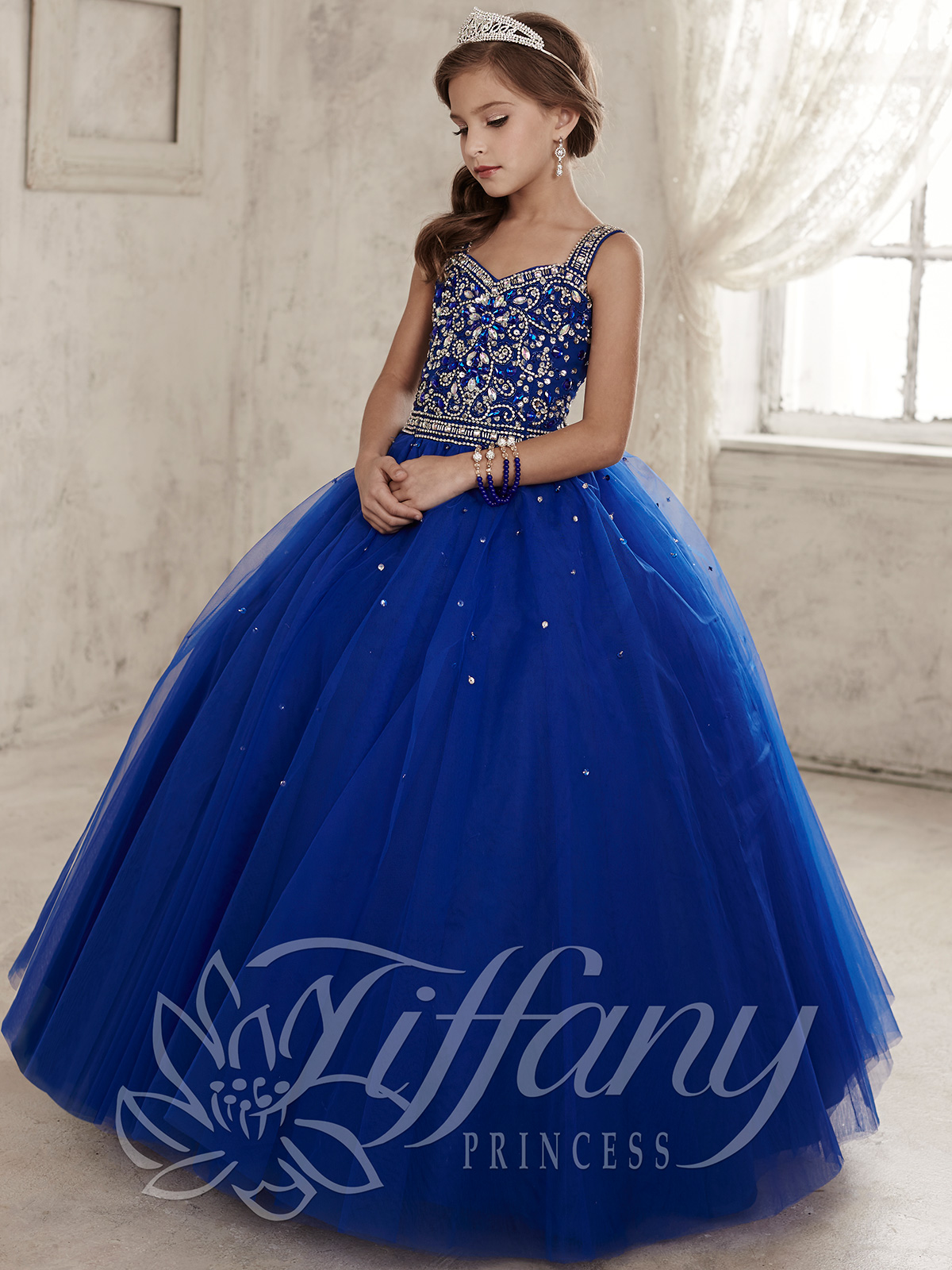 Tiffany Princess 13443 Sweetheart Girls Pageant Dress|PageantDesigns.com
