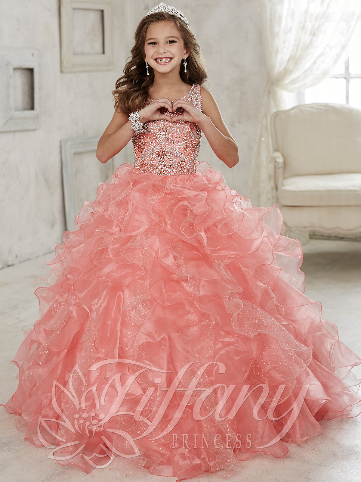 Tiffany Princess 13444 Beaded Bodice Girls Pageant Dress ...