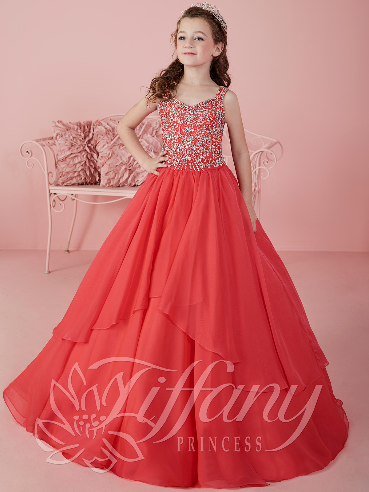 Tiffany Princess 13461 Sweetheart Beaded Ball Gown Pageant ...