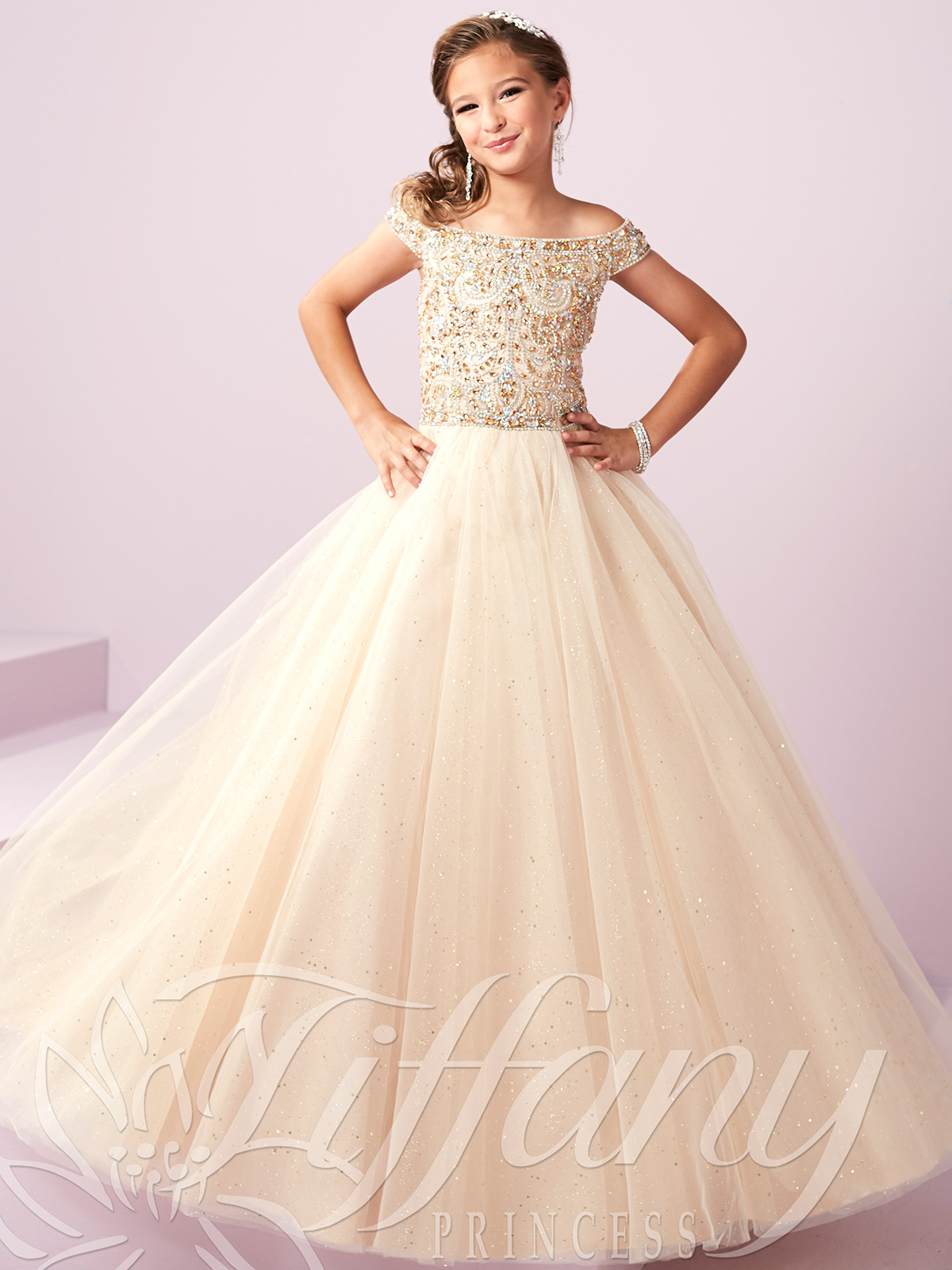 7e9b8534f39d Sparkle Tulle Pageant Dress by Tiffany Princess 13487