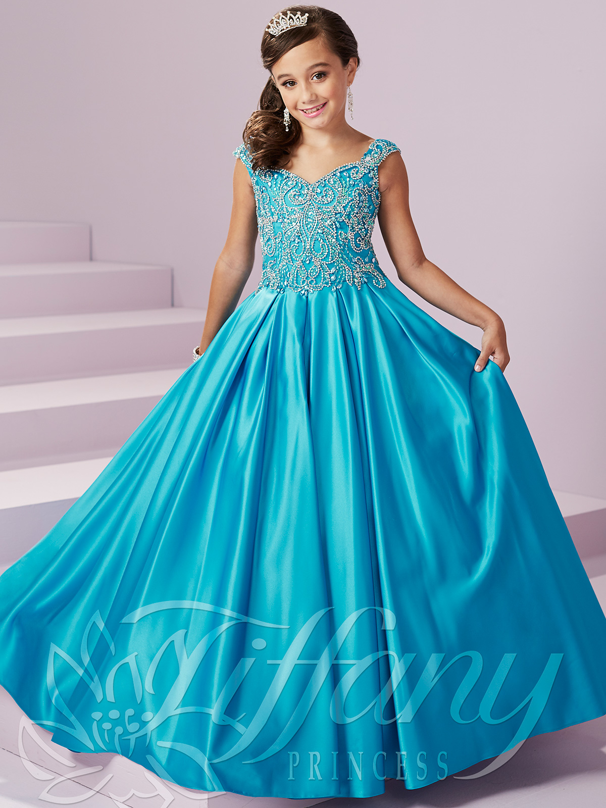 Tiffany Princess 13490 Beaded Bodice Pageant Gown|PageantDesigns.com