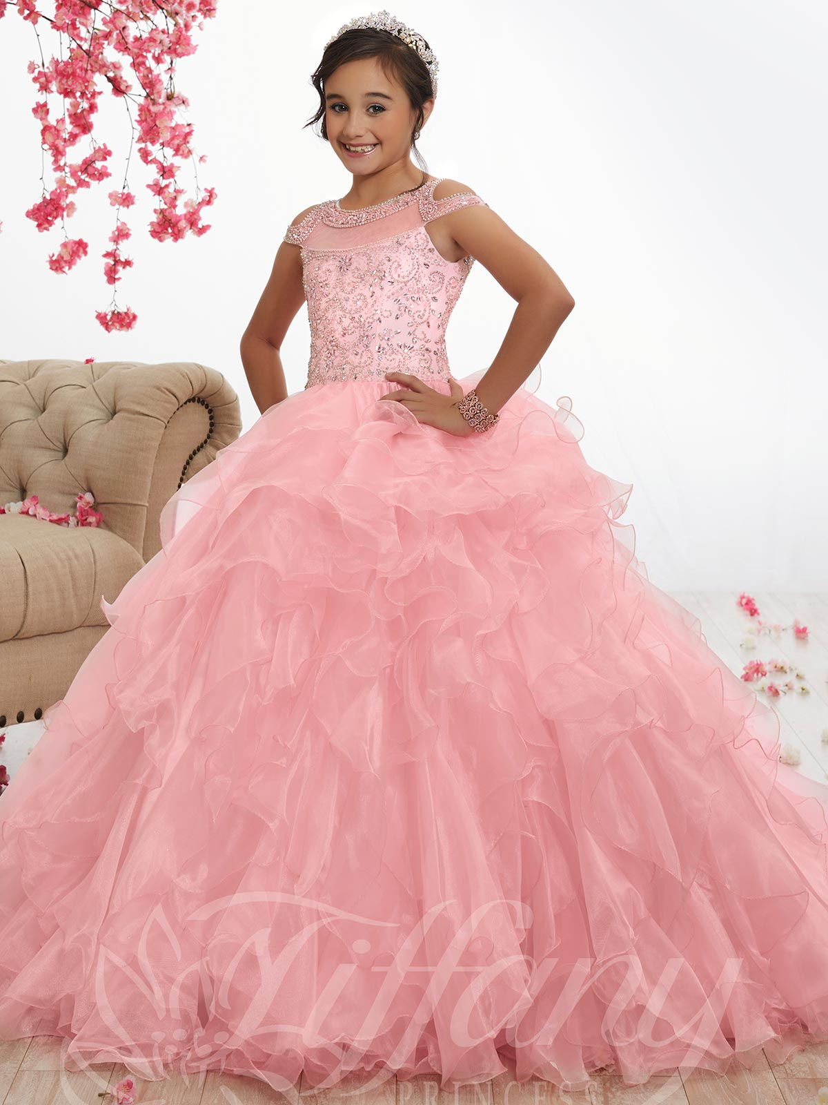 5ff7037c59f7 Tiffany Princess 13529 Satin Ball Pageant Gown