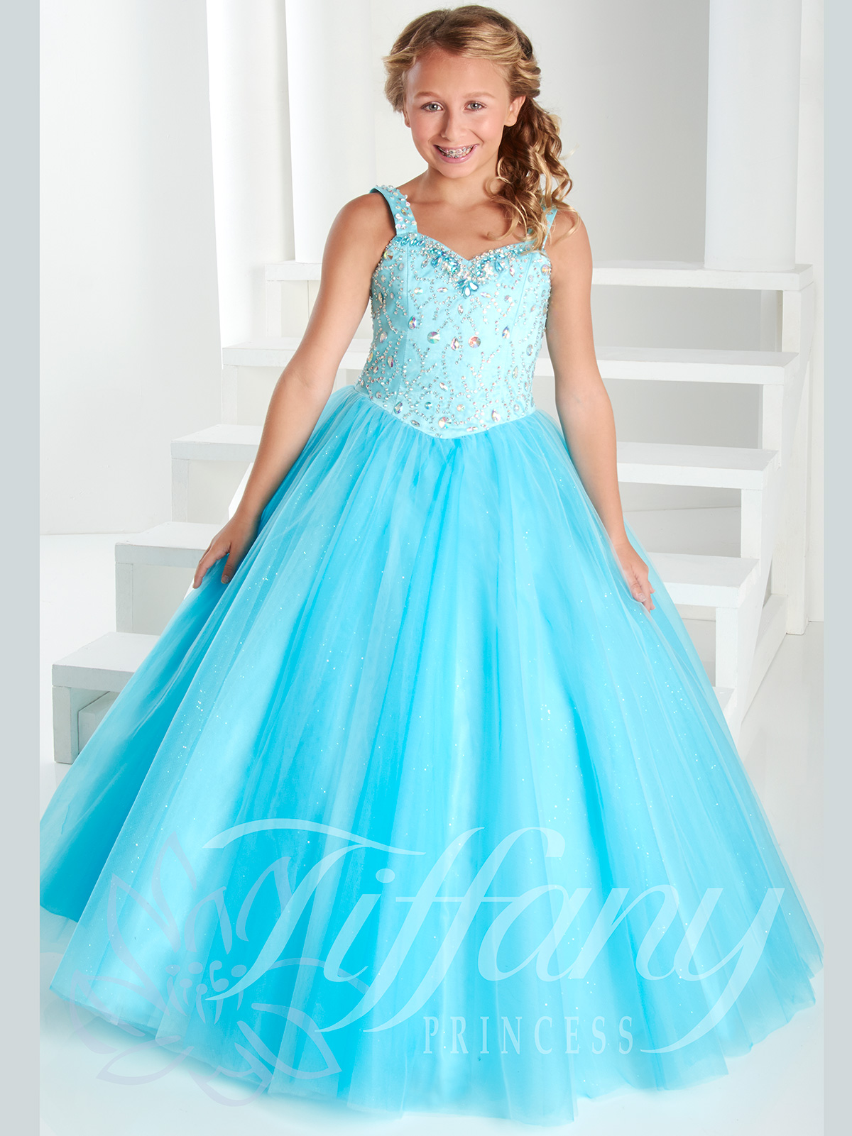 Tiffany Princess Rhinestone Bodice Pageant Gown 13409|PageantDesigns.com